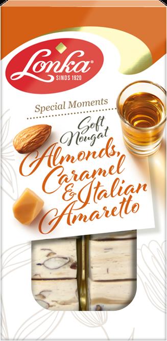 Soft nougat – Almonds, Caramel and Italian Amaretto