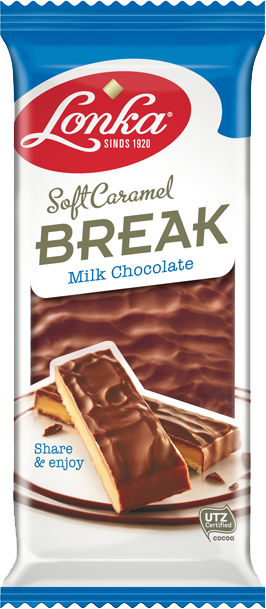 Soft caramel break-  milk chocolate