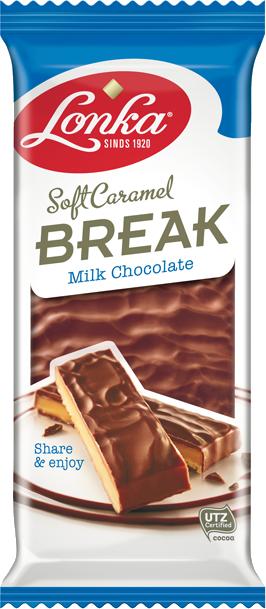Soft caramel break-  milk chocolate