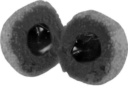 Bonbons liquorice (filled)